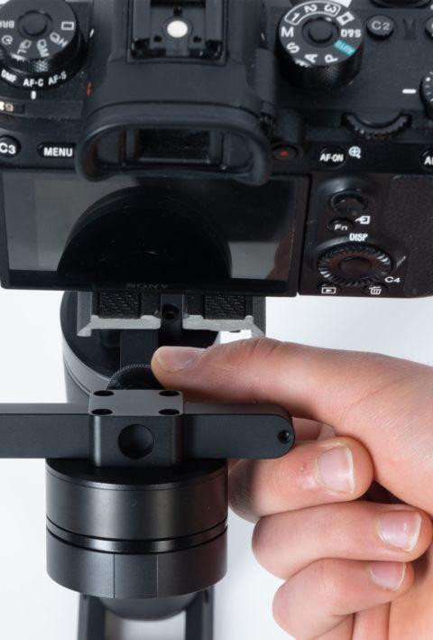 icecam gimbal tiny 3 ultravision bilanciamento meccanico roll